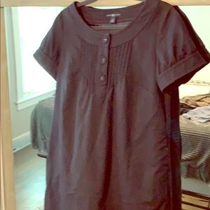 Vintage Style 70's navy blue wool shift dress